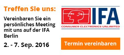 Treffen Sie uns auf der IFA Berlin