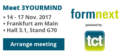 Arrange an Appointment with 3YOURMIND at formnext