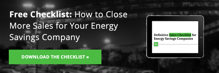 Download the Definitive Sales Checklist for Energy Service Companies