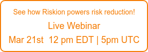 Go beyond ERM and GRC Dashboards See how Riskion powers risk reduction! Jan 8th | 12 pm EDT