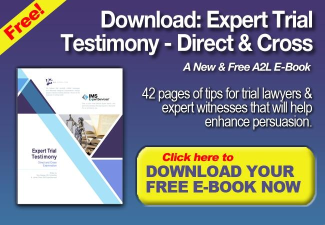 expert witness trial testimony ebook a2l ims