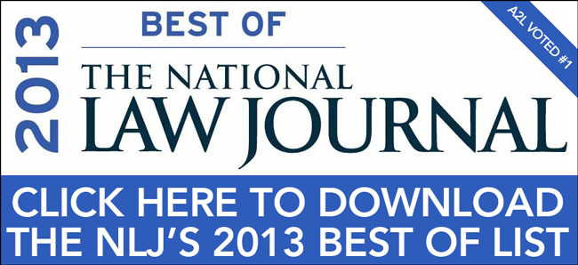 a2l consulted voted best demonstrative evidence consultants national law journal nlj 2013