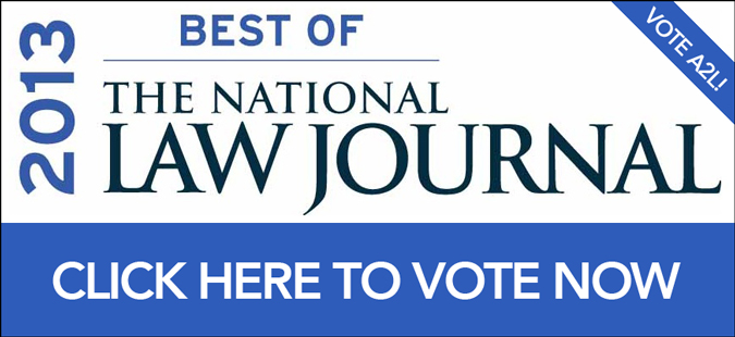 Best of the National Law Journal 2013 - Vote A2L Consulting!