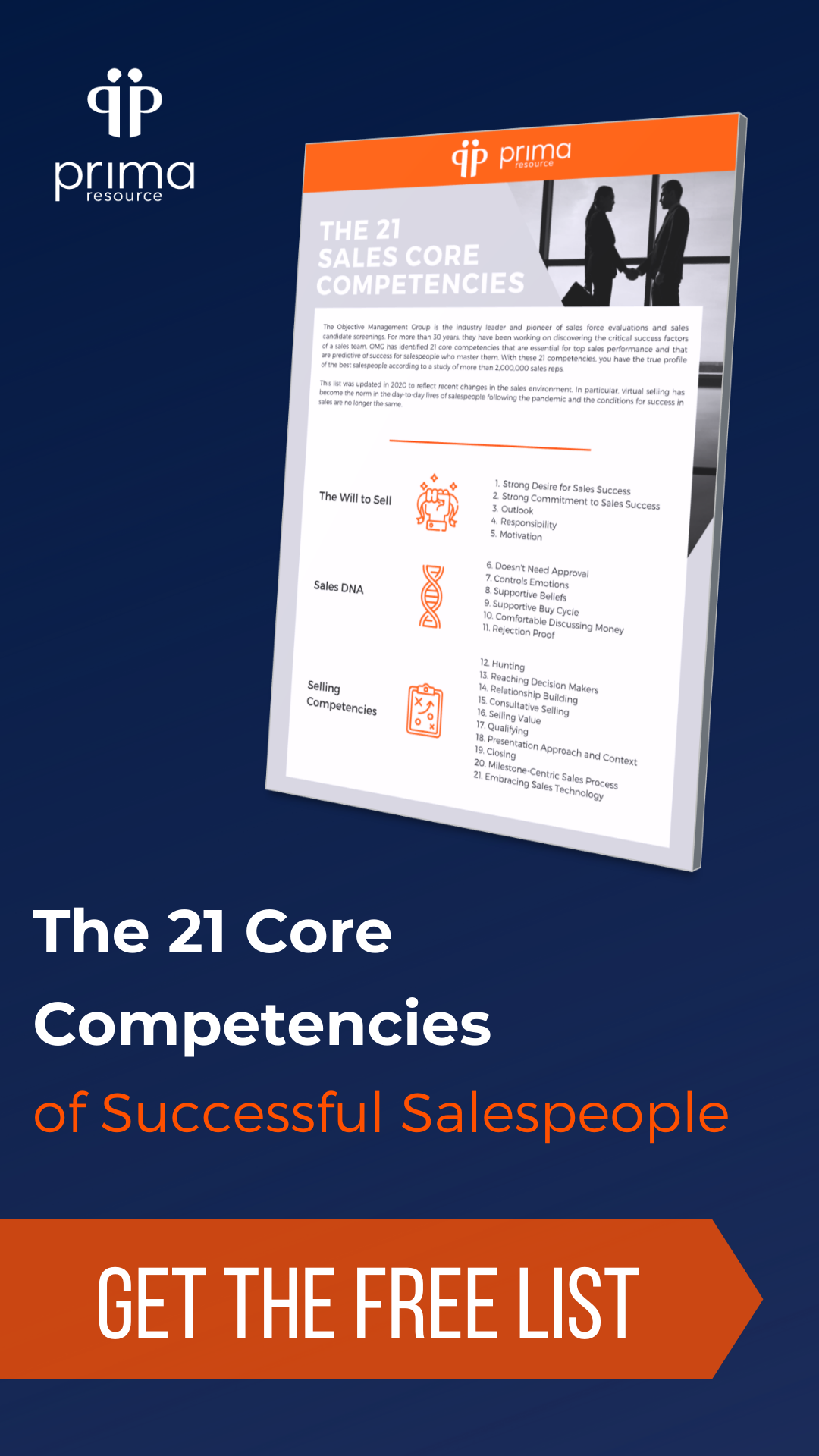 21 Core Competencies of Successful Salespeople