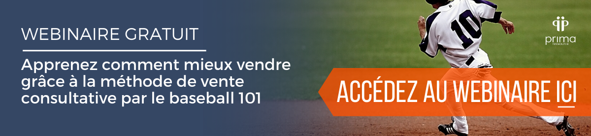 Webinaire gratuit - Vente consultative par le baseball 101