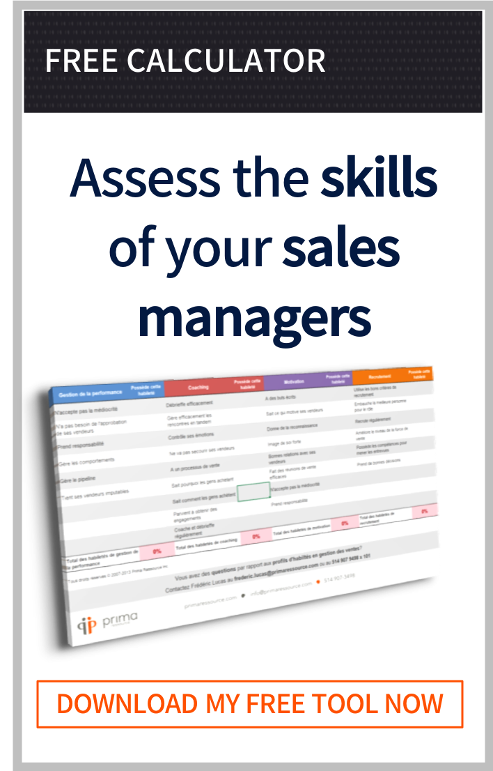 Sales Management Skills Calculator
