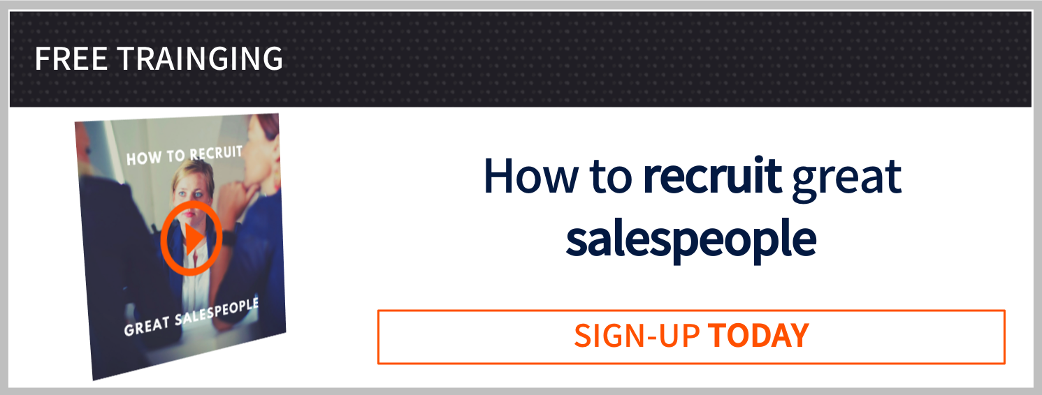 How to recruit great salespeople