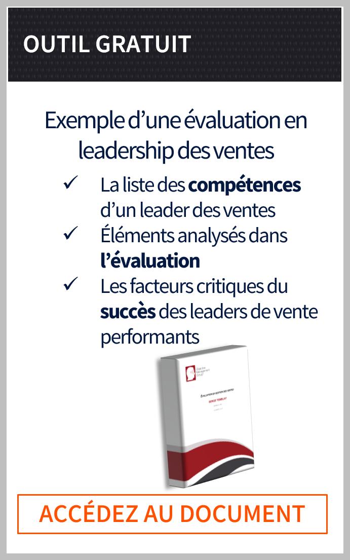 Exemple d'une évaluation en leadership des ventes