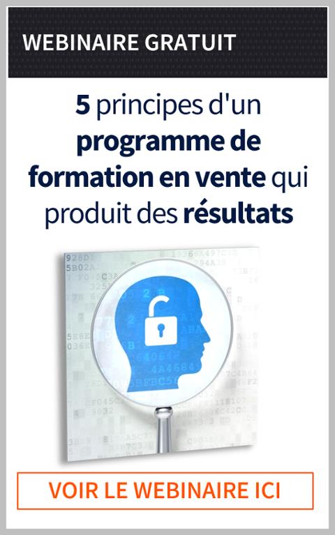 5 principes d'une programme de formation en vente qui donne des résultats | webinaire gratuit