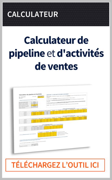 Calculateur de pipeline et d'activités de vente