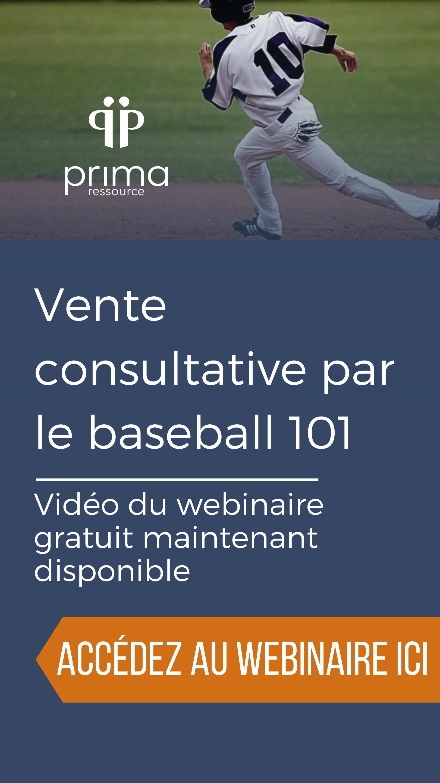 Webinaire vente consultative par le baseball