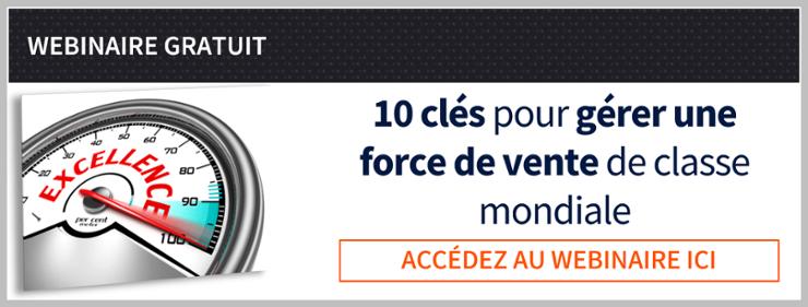 Webinaire gratuit 10 clés pour gérer une force de vente de classe mondiale