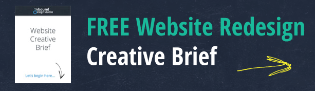 free hubspot website redesign creative brief document