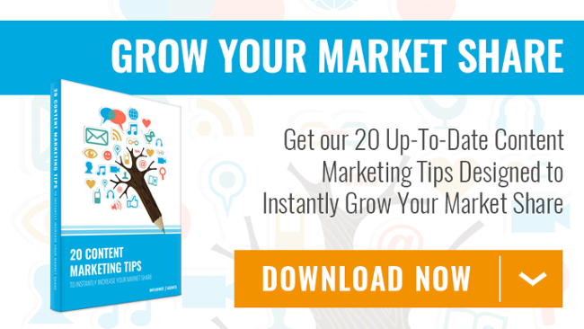 Download 20 content marketing tips to grow you market share