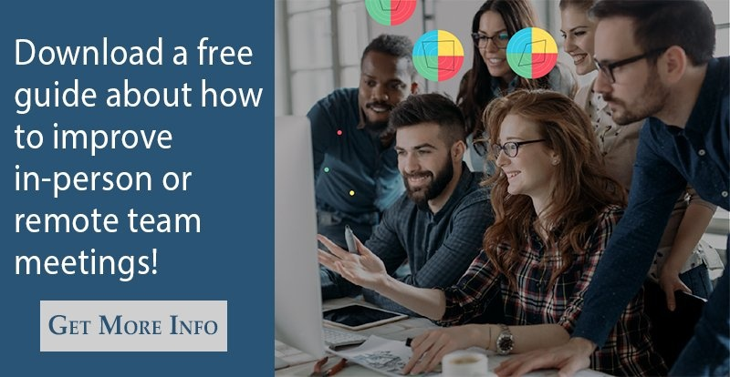 Download a free guide about how to improve in-person or remote team meetings!