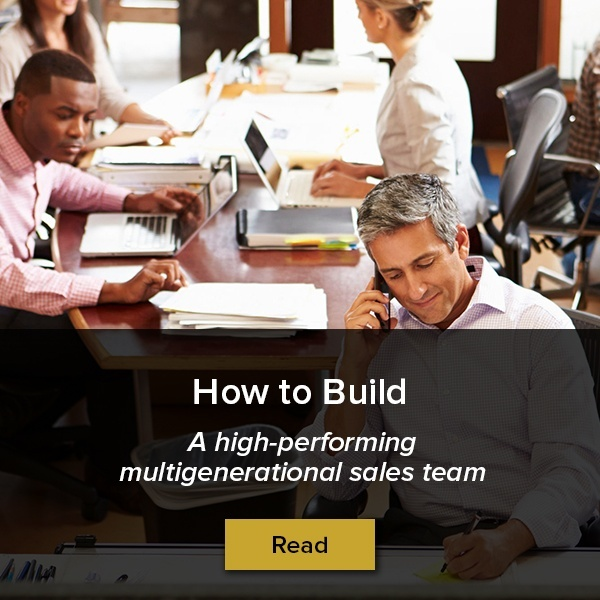 How to build a high-performing multigenerational sales team
