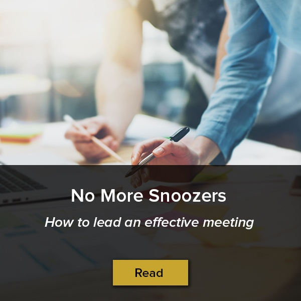 Read the blog: How to lead an effective meeting