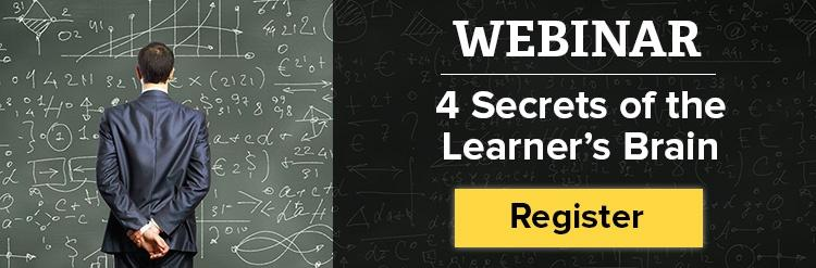 Click here to register for the 4 Secrets of the Learner's Brain webinar