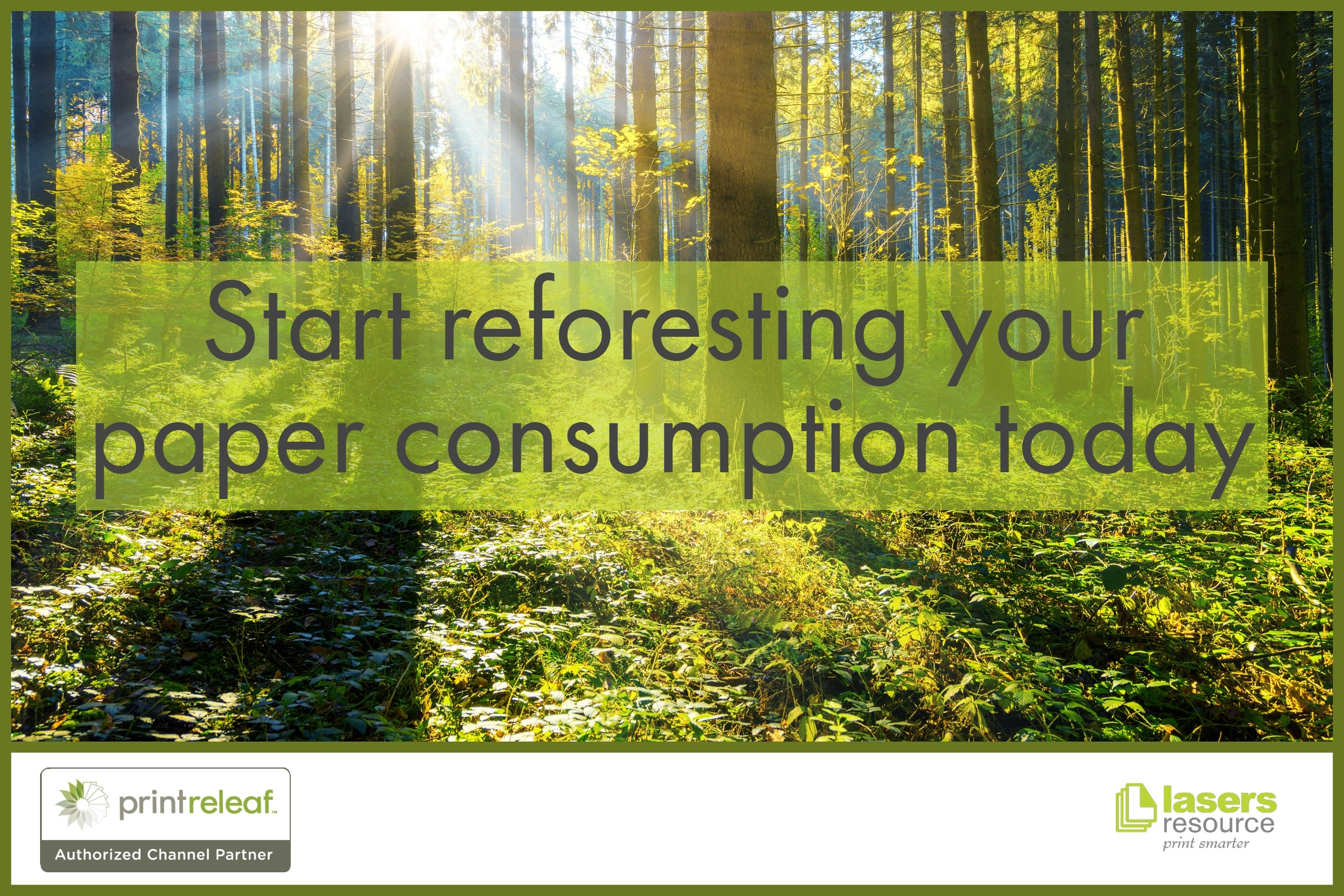 Start reforesting your paper consumption today with PrintReleaf and Lasers Resource