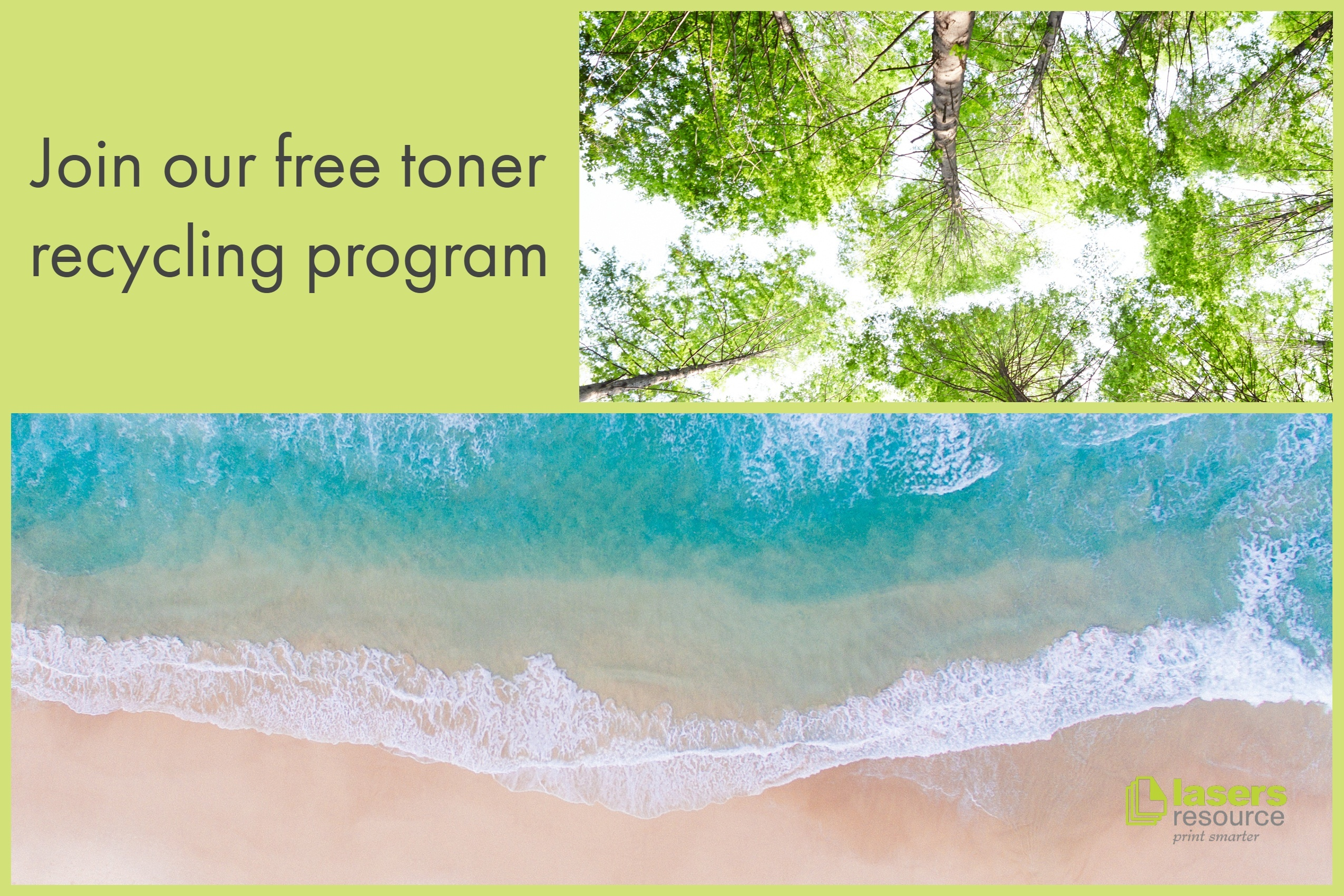Join the Free Lasers Resource toner recycling program