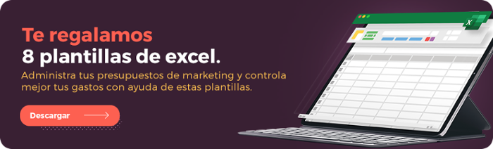 Descarga gratis los 8 templates para administrar tu presupuesto de marketing.