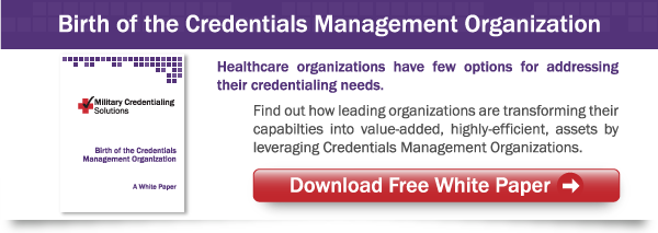 Birth of the Credentials Management Organization
