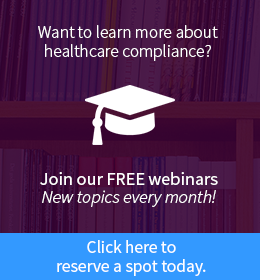 healthcare compliance webinars