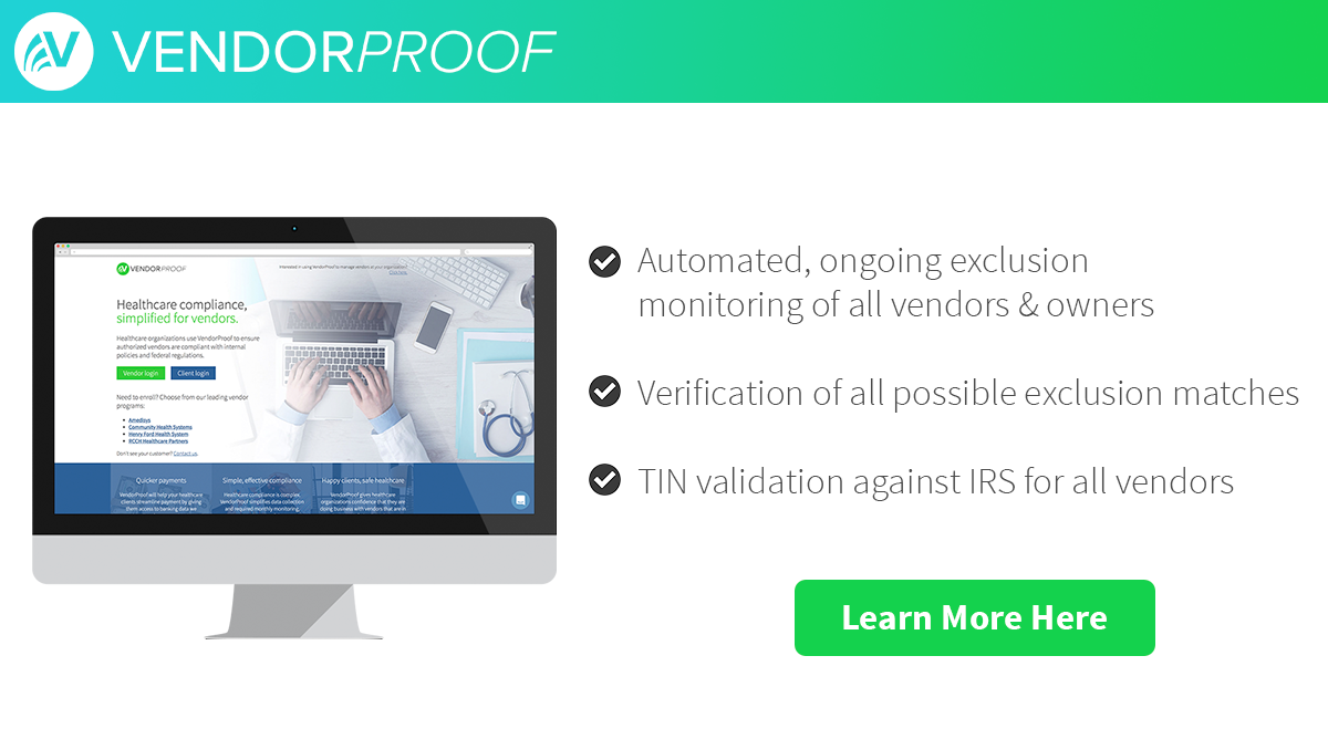 VendorProof healthcare solution