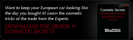 Download the eBook Cosmetic Secrets to Keeping Your European Automobile Looking Like New