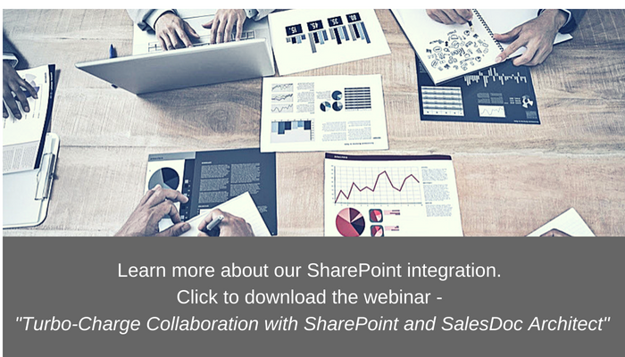 "Watch ""Turbo-Charge Collaboration with SharePoint and SalesDoc Architect"" webinar video"
