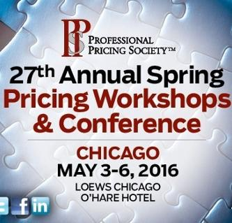 Professional Pricing Society Conference Spring 2016