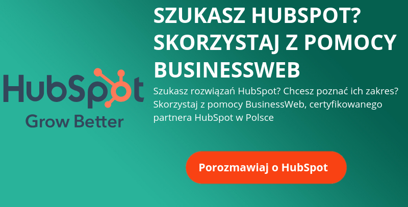certyfikowany partner Hubspot w Polsce BusinessWeb