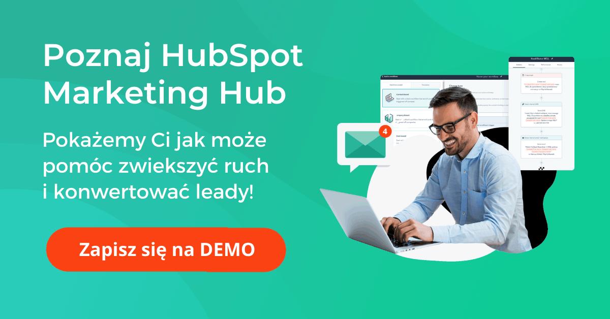 Poznaj Hubspot Marketing Hub