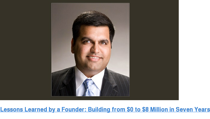 Lessons Learned by a Founder: Building from $0 to $8 Million in Seven Years