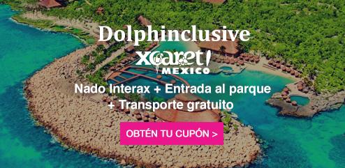 Paquete Xcaret todo incluido - Nado con delfines y más- Delphinus