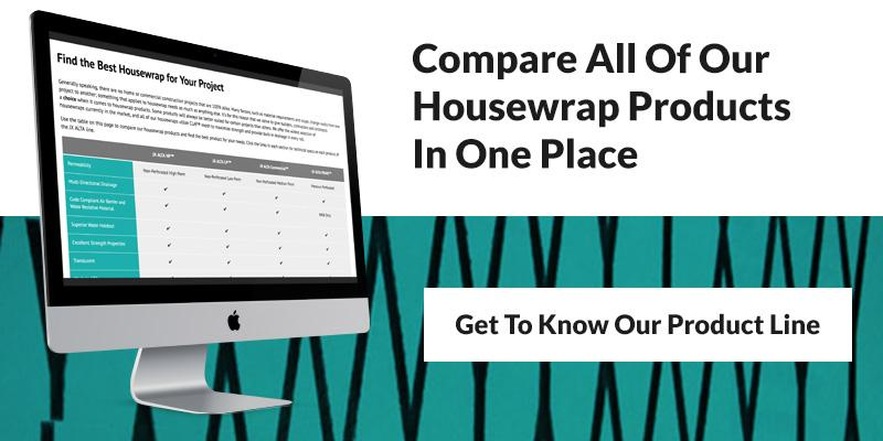 Compare Our Housewrap Products