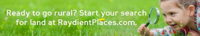 Looking for land to start a healthier life?  Visit RaydientPlaces.com