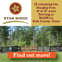 Land for sale in Polk County, Texas