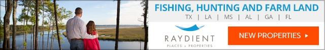 Fishing hunting farm Land For Sale in the South