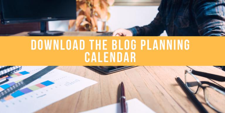 blog planning calendar