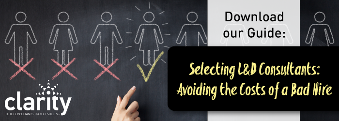 Download our Guide, Selecting L&D Consultants: Avoiding the Cost of a Bad Hire