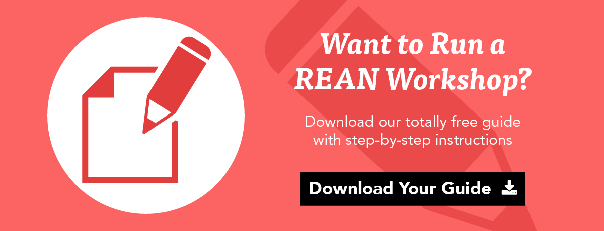 want to run a rean workshop? download our totally free guide with step-by-step instructions