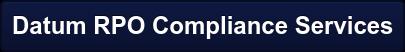 Datum RPO Compliance Services