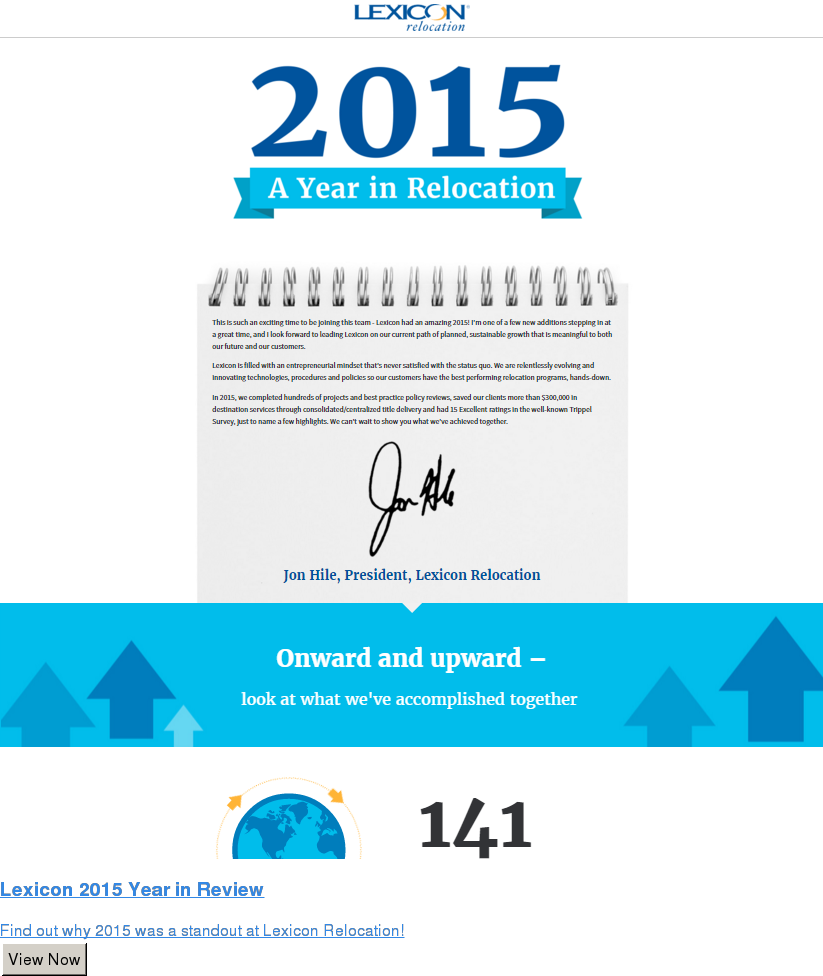 Lexicon 2015 Year in Review  Find out why 2015 was a standout at Lexicon Relocation! View Now