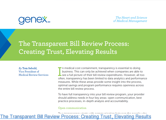 The Transparent Bill Review Process: Creating Trust, Elevating Results