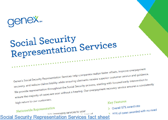 Social Security Representation Services fact sheet