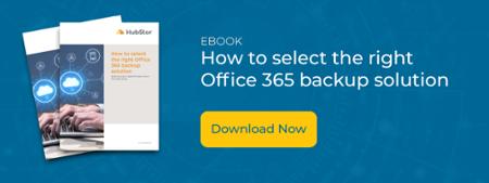 Text: How to select the right Office 365 backup solution with thumbnail of ebook and download now button