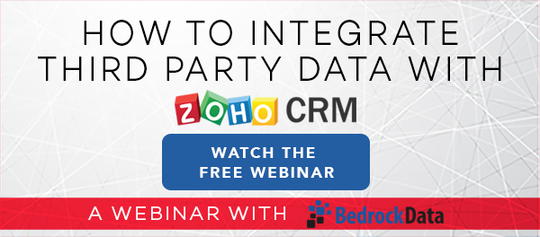 how to sync data with zoho crm