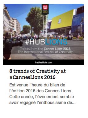 Report Cannes Lions 2016