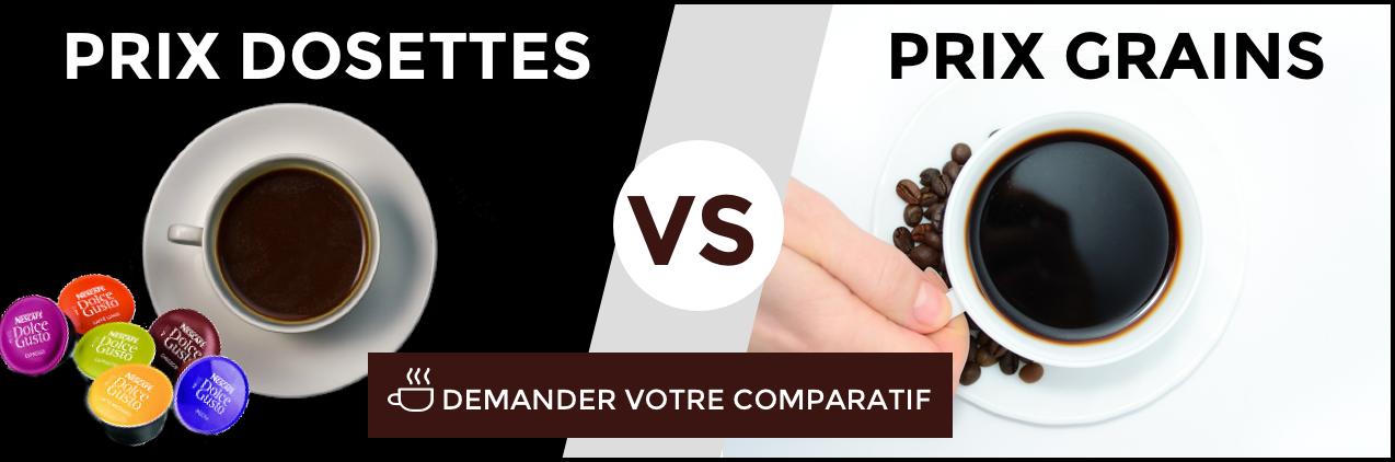 Comparatif café en grain au bureau vs capsules pro
